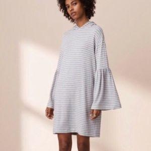 Lou & Grey Striped Dress Bell Sleeve Dress S